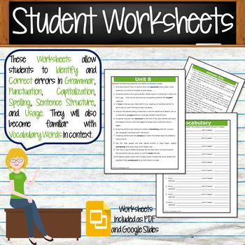 GRAMMAR & VOCABULARY PROGRAM - 6th Grade - Standards Based – Unit 8