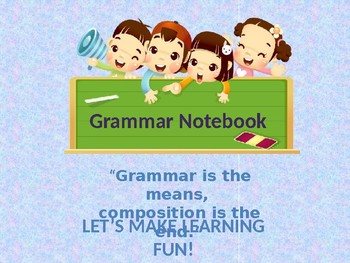 "Complete Grammar in 1 Editable File ""ABSOLUTELY FREE"""