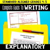 Explanatory Writing Unit for 4th and 5th Grade | Full Less