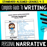 Personal Narrative Writing Unit for 4th and 5th Grade | Full Lesson Plans