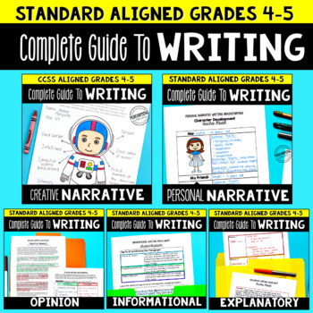4th & 5th Grade Writing Units - Complete Guide Year Long Bundle