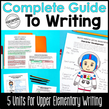 4th & 5th Grade Writing Units - Print & Google Bundle | distance learning