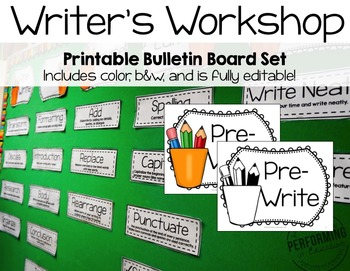 Writer's Workshop Bulletin Board Print, Laminate, and Done!