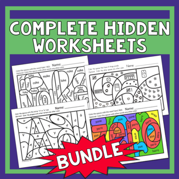 Complete Hidden Worksheets Bundle