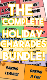 Complete Holiday Charades Bundle! -Halloween, Thanksgiving, Christmas, Valentine