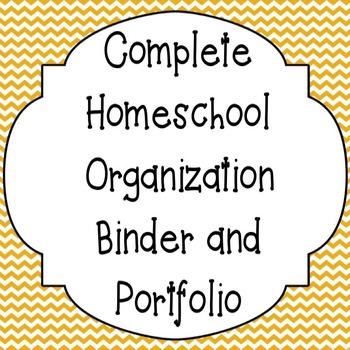 Complete Homeschool Organization Binder and Portfolio