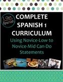 "Full Year ""I Can"" Spanish 1: IPA-Style Curriculum"