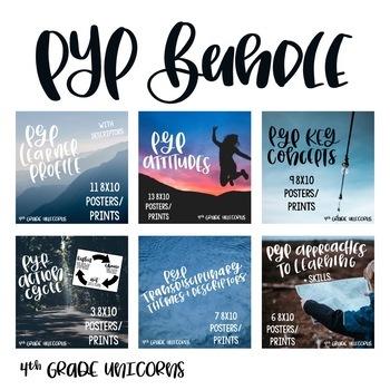 IB PYP Posters / Prints BUNDLE - Learner Profile, Attitudes, Key Concepts, etc.