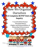 Complete IB Unit Study Math,Literacy Activities Civics, Citizens, Civil Rights