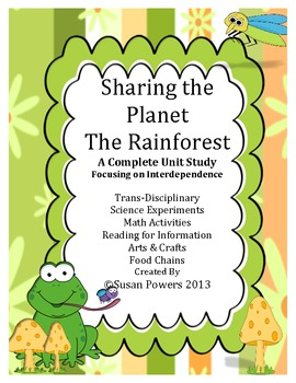 Complete IB Unit Study of Rainforests: Math,Science,Literacy Activities