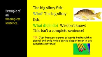 Complete & Incomplete Sentences