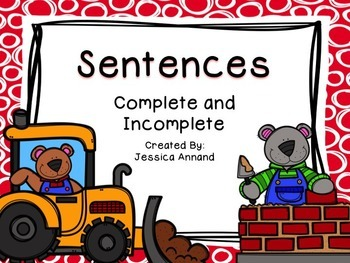 Complete Incomplete Sentences PowerPoint