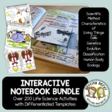 Science Interactive Notebook Bundle - Life Science and Biology