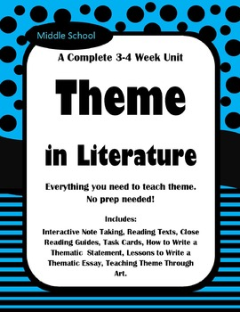 Complete Interactive Theme Unit Bundle- 3-4 Weeks with Interactive Notebook
