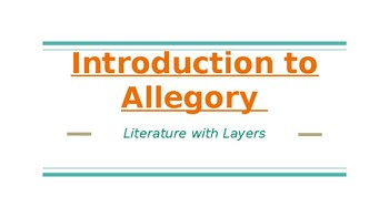 Allegory and Symbolism: Complete 3-Day Introduction