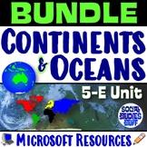 BUNDLE | Continents & the World Map Complete 5-E Unit | FUN Intro Resources