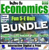 BUNDLE: Intro to Economy Complete 5-E Unit - Lots of FUN Economics Resources