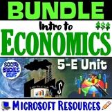 BUNDLE | Intro to Economy 5-E Unit | FUN Economics Resources | Distance Learning