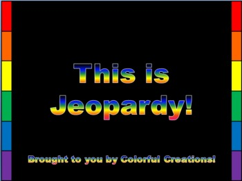 Complete Jeopardy Template