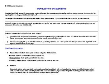 Complete KISD Behavior Tracking Workbook for 2014 - 2015