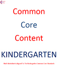 Complete Kindergarten Common Core Math Worksheet Package ALL STANDARDS