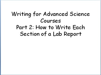Complete Lab Report Writing Guide for Advanced Level Scien