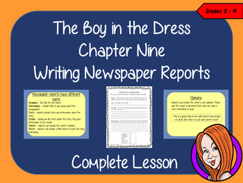 Complete Lesson Newspaper Reports  – The Boy in the Dress