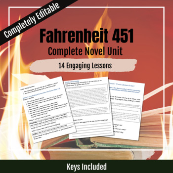 Complete Lesson Pack for Fahrenheit 451-Entire Novel Unit