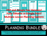 Complete Lesson Planning Bundle - Completely Editable in G