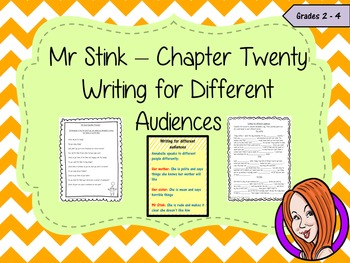Complete Lesson on Writing for Different Audiences  -  Related to Mr Stink