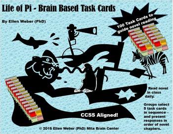 Complete Life of Pi Novel Unit - with Brain Based Tasks