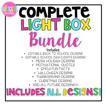 Complete Bundle of Light Box Slide Designs -- Includes EVERY Design
