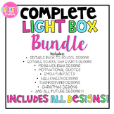 Complete Bundle of Light Box Slide Designs -- Includes EVE