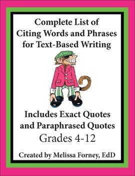 Citing Sources Grades 4 - 8