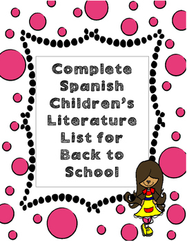 Complete List of Spanish Children's Books for Back to School