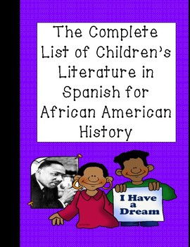 Complete List of Spanish Children's Literature for Black History Month
