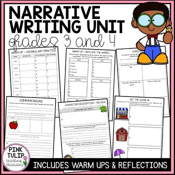 Complete Writing Unit Yr 3/4- Sentence structure, parts of speech, narratives