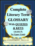 Complete Literary Term Glossary, With Quizzes and Answer Keys (Middle-College)