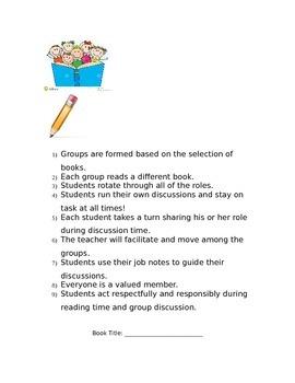 Complete Literature Circle Resources