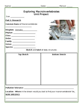 Complete Macroinvertebrate Research Project