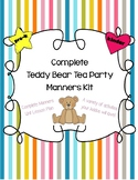 Complete Manners Unit Teddy Bear Tea Party