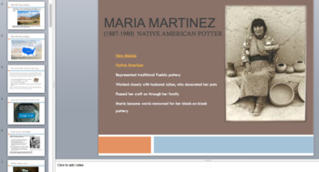 Maria Martinez, Pueblo Art History Lesson, includes everything you need !!!