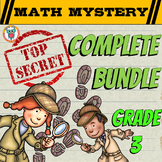 Complete Math Mystery Bundle 3rd Grade Math Review - CSI Math Activity
