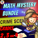 Complete Math Mystery Tri-Grade Bundle for 2nd, 3rd, & 4th Grade Math Mysteries