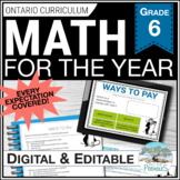 Math Unit Bundle: Entire Year of Grade 6 Math! NEW Ontario