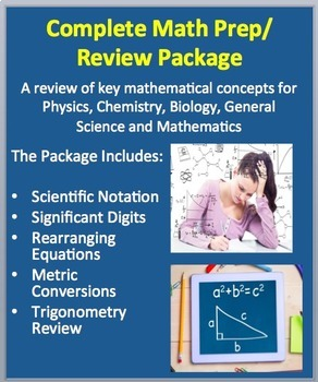 Complete Math Skills Review for High School Science and Mathematics Courses