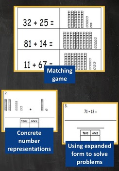 2nd Grade Unit: Two Digit Addition WITHOUT Regrouping Problem Solving***PDF