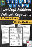 2nd Grade Unit: Two Digit Addition WITHOUT Regrouping Prob