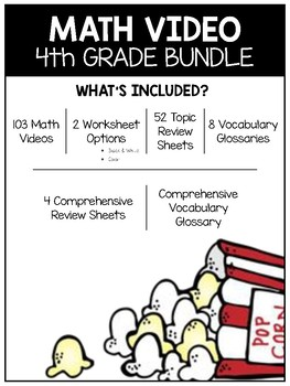 Complete Math Video and Worksheet Bundle (4th)
