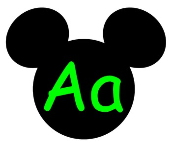 Complete Mickey themed Word Wall Bundle **** Green